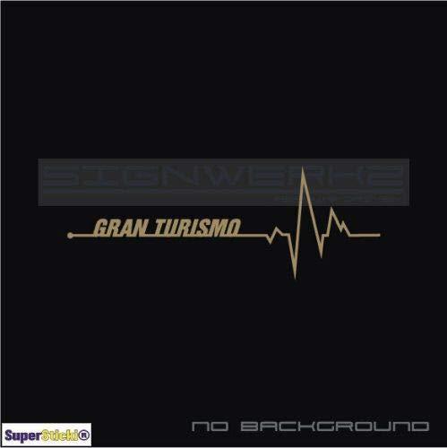 SUPERSTICKI Herzschlag Gran Turismo ca 20cm Aufkleber,Autoaufkleber,Sticker,Decal,Wandtattoo, aus Hochleistungsfolie,UV&waschanlagenfest,