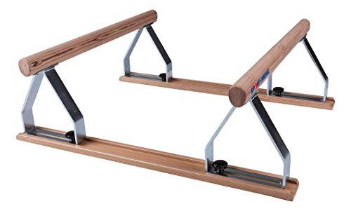 Sport-Thieme Handstand-Barren   Hochwertiger Mini-Barren   Stufenlos in der Breite verstellbar   Bis 100 kg belastbar   LxBxH: 50x40x28 cm   Holme: 70 cm lang   9 kg   Holz   Markenqualität