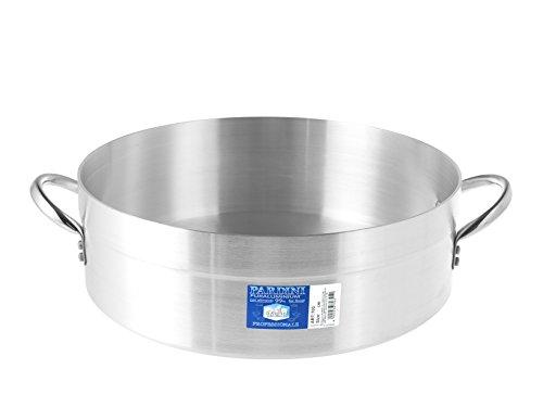 PARDINI Casseruola Alluminio Bassa Albergo 2 Manici 10 Pentole Cucina, Grigio, 50 cm