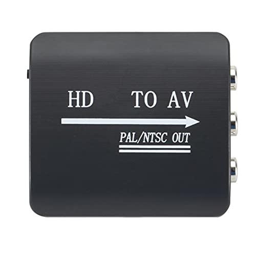 Rehomy Adaptador de vídeo 1080P - Convertidor HDMI2AV portátil compatible con adaptador de audio de vídeo AV