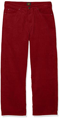 Lee 5 Pocket Wide Leg Corduroy, Pantalones para Mujer, Rojo (Biking Red 87), W25/L 33