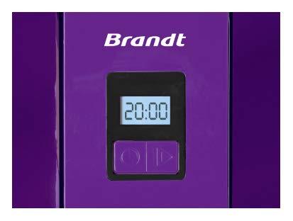 BRANDT – Sorbetière – Capacité : 1,5 litres – Minuteur Digital Intégré – Pour Réaliser...
