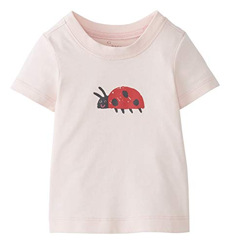Moon and Back by Hanna Andersson Short Sleeve Graphic Tee Fashion-t-Shirts, Hellrosa, 3-6 Months