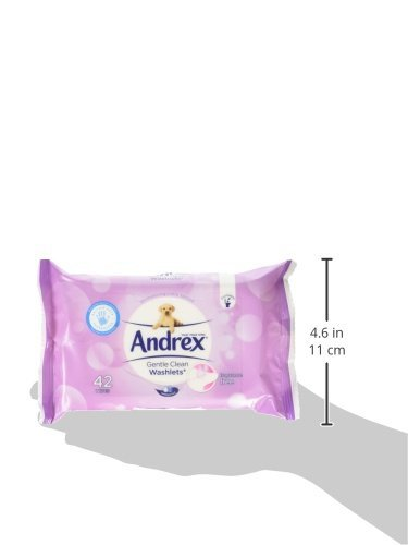 Andrex Washlets Gentle Clean Toallitas De Papel Higiénico - 12 Paquetes De Toallitas (42 Por Paquete, 504 Toallitas Totales)