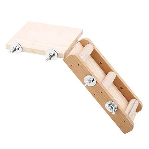 Duokon La Plate-Forme d'échelle de Jouets de Hamster de Perroquet en Bois a placé Le Petit Animal Joue des Kits s'élevants pour Le Hamster d'oiseaux Jouant Le Repos
