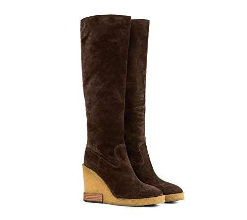 Tod's Luxury Fashion Damen XXW18B0Z990BYES611 Braun Stoff Stiefel   Jahreszeit Permanent