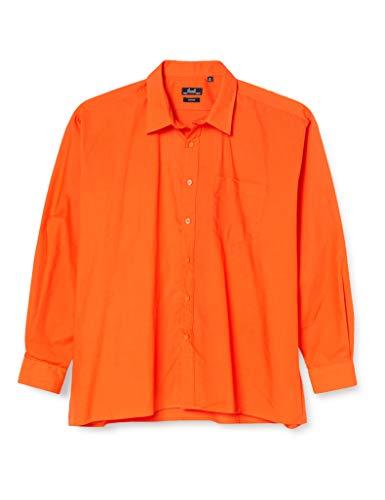 Premier Workwear Poplin Long Sleeve Shirt, Chemise Business Homme, Orange, XXX-Large