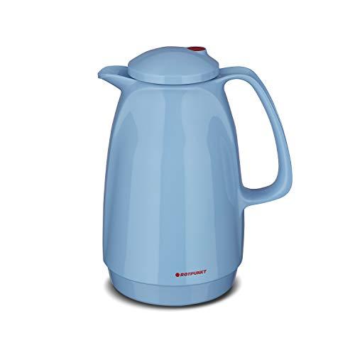 ROTPUNKT Isolierkanne 220 Bella 1,0 l   Zweifunktions-Drehverschluss   BPA-frei - gesundes Trinken   Made in Germany   Warm + Kalthaltung   Glaseinsatz (babysmurf)