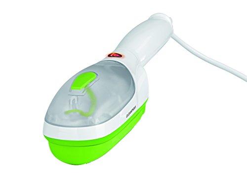 CLEANmaxx Dampfglätter 3in1 inkl. Antifussel und Textilbürsten-Aufsatz | Hand-Dampfgerät zum Auffrischen, Glätten und Entfusseln | 770 Watt [extra Großer Wassertank, 120ml]