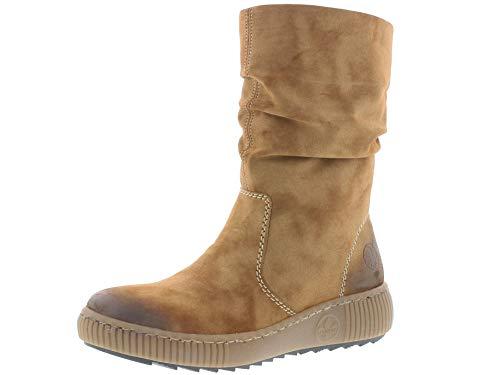 Rieker Damen Stiefeletten Z6651, Frauen Stiefelette, leger Stiefel Boots halbstiefel Bootie gefüttert Winterstiefeletten Lady,REH,38 EU / 5 UK