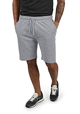 Yamadan Mens Elastic Waist Athletic Workout Gym Shorts Casual Drawstring Sweat Short Pants Summer Active Joggers with Pockets (Light Grey Athletic Shorts, XL)