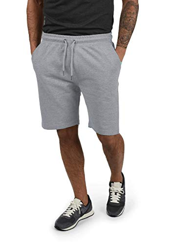 Yamadan Mens Elastic Waist Athletic Workout Gym Shorts Casual Drawstring Sweat Short Pants Summer Active Joggers with Pockets (Light Grey Athletic Shorts, M)