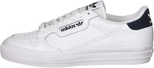 adidas Continental Vulc, Scarpe da Ginnastica Unisex-Adulto, Ftwr White/Ftwr White/Collegiate Navy, 42 EU