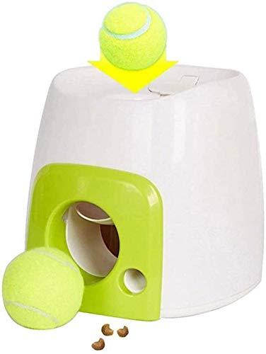 zaizai Máquina de recompensa de Alimentos para Perros con Pelota de Tenis Juego Interactivo de Juguete con Pelota para Mascotas para Entrenamiento IQ