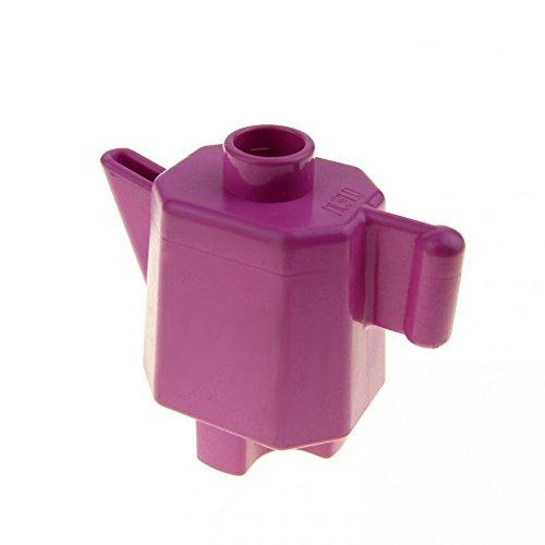 1 x Lego Duplo Geschirr Kanne rosa dunkel pink hoch Kaffee Tee Milch Puppenhaus Wohnzimmer Küche Zubehör Möbel 31041