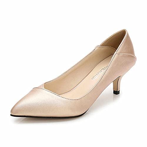 Zapatos de tacón bajo de Estilete para Mujer, Zapatos de Bombas de...
