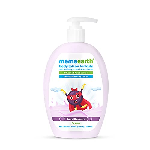 Mamaearth Brave Blueberry Body Lotion for Kids with Blueberry & Kokum Butter – 400 ml