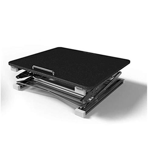 Klaptafel tuintafel eettafel notebookstandaard verstelbare anti-slip aluminium laptoptafel met muisplatform voor kantoor (kleur: wit) zwart