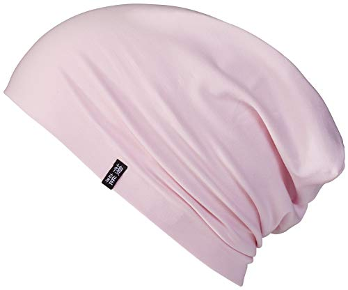 Enter the Complex® Leichte Jersey Mütze, Damen und Herren, Slouch Beanie aus Baumwolle, Elastisch (Large/X-Large, Strawberry Ice Cream Pink)