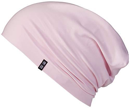 Enter the Complex® Leichte Jersey Mütze, Damen und Herren, Slouch Beanie aus Baumwolle, Elastisch (Small/Medium, Strawberry Ice Cream Pink)