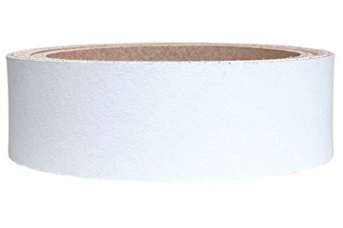 Lederriemen Rindsleder 'Basic', Gürtelleder, Rindleder, Lederband, Farbe:weiß 2.5mm, Breite:4cm...
