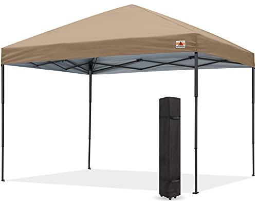 ABCCANOPY タープテント ワンタッチ アウトドア 3m/2.5m/2m 3段階調節 大型テント 高強度スチールフレーム キャスターバッグ付き 組立簡単 付属品付き