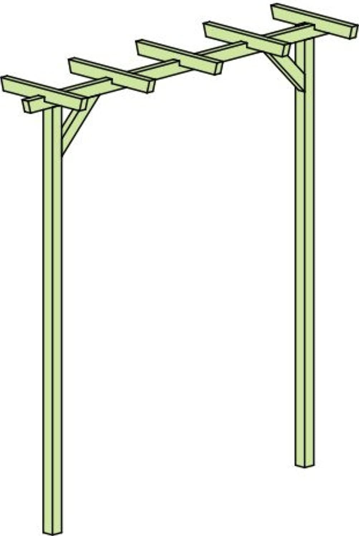 Pergola Terniflora einfach - Abmessung  225 x 60 x 240 cm (B x T x H)