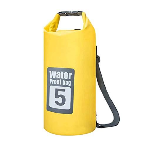 Dry Bag - Bolsa impermeable de PVC (5 L), color amarillo