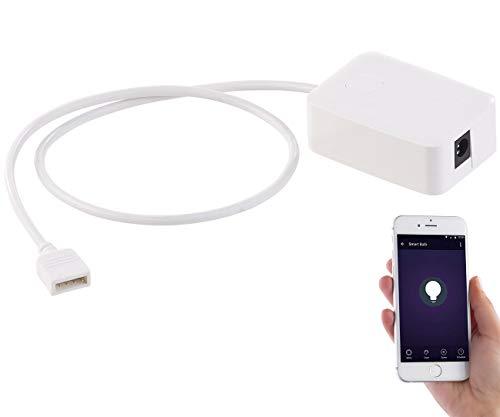 Luminea Zubehör zu Deko-LED-Streifen: WLAN-Controller (LED Serie LAT), Amazon Alexa & Google Assistant komp. (LED-SMD-Streifen-Licht)