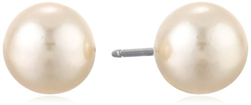 1928 Bridal Basic 8mm Simulated Pearl Earrings