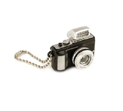 Familienkalender Kleine Kamera Schlüsselanhänger mit LED-Blitz und Sound (Fotoklick) in schwarz | Geschenk für Kinder | Jungen | Mädchen | Spielzeug mit Ton | Fotograf | Foto | Blitz |
