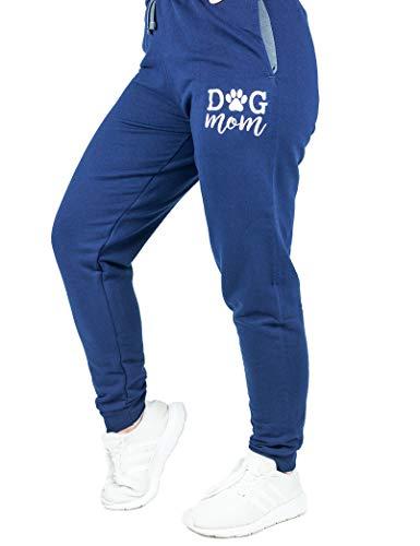 B-Wear Sportswear Dog Mom Puppy Lover Pet Cute Cozy Lounging Sweatpants Joggers for Women Navy