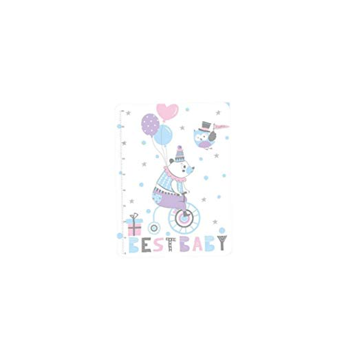 YZLSM Wickelunterlage wasserdichte Baby-Windel-Matten-Auflage Altenpflege Matte Waschbare Säuglingsbabybett Schlafmatte für Spaziergänger Krippe Auto-Rosa-Blau-Bär