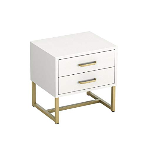 Nightstand GCX- Mesita de noche para dormitorio, mesita de noche, taquilla para sala de estar, sofá, armario lateral de moda (color: blanco)
