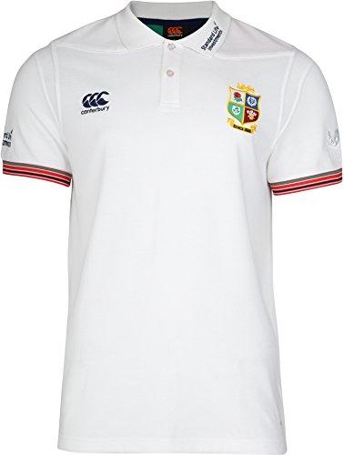 Canterbury Polo de Sport British & Irish Lions Vapodri pour Homme de S Bright White