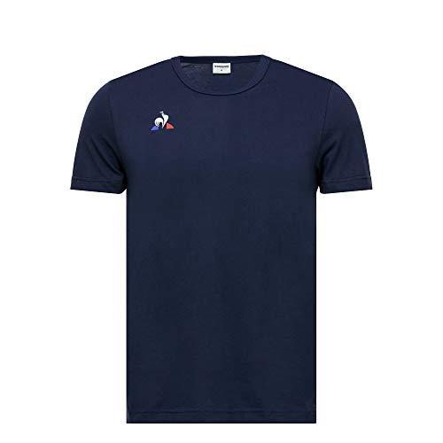 Le Coq Sportif Tee SS Presentation Coton T-Shirt Homme, Homme, Tricot, 1720766, Bleu (Dress Blues), 4XL