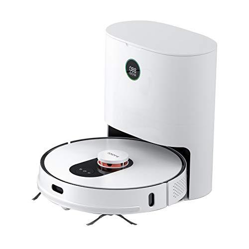 ROIDMI EVE Plus Saugroboter Roboterstaubsauger mit Automatische Absaugstation, 2700 Pa Saugkraft, Wischfunktion, LDS Intelligenter Navigations, App-Steuerung