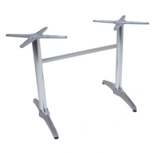 Unbekannt BRENTA Tischgestell Bistrotisch Alu Tisch Gestell Doppelwangen (2) Gastronomie Tische Gestelle für rechteckige Tische. ACHTUNG!!! 16 Schrauben beipacken(auf Packtisch2)!!!!!!