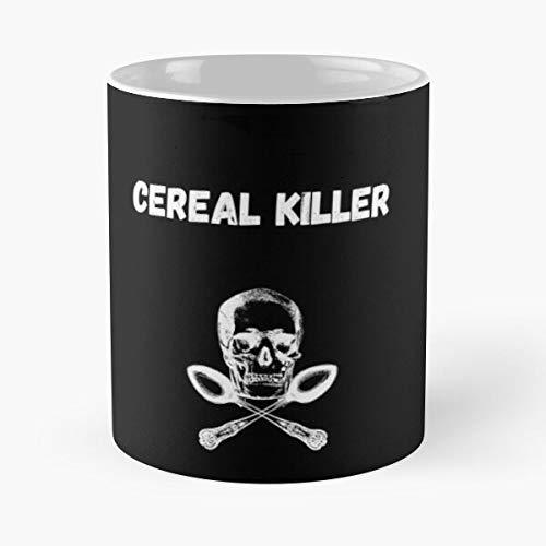 Breakfast Cereal Bones Spoon Kellogs Killer Lover Serial Taza de café con Leche 11 oz