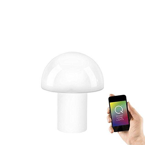 Paul Neuhaus, Q-Lido, LED Tischleuchte, dimmbar mit Fernbedienung, Alexa-fähig, Smart Home, Stehlampe, RGB-Farbwechsel, Farbtemperatur einstellbar, warmweiss - kaltweiss, weiß