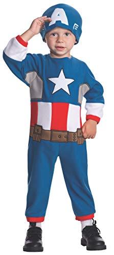 Rubie's Costume Baby's Marvel Classics Avengers Assemble Captain America Costume, Multi, Toddler