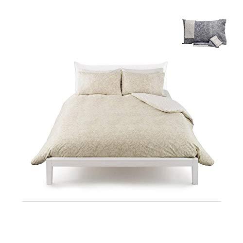 Zucchi Funda nórdica para cama de matrimonio, 250 x 200 cm, modelo Damasco, color azul