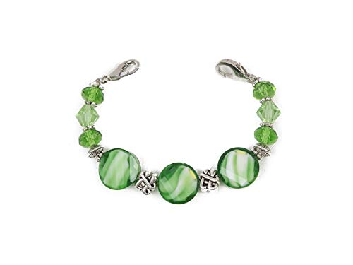 Medical Alert Bracelet   STRETCH Medical ID Bracelet   Interchangeable Replacement Beaded Medical ID Stretch Bracelet   Color Collection - Green Celtic Clover   MEDICAL ID TAG NOT INCLUDED