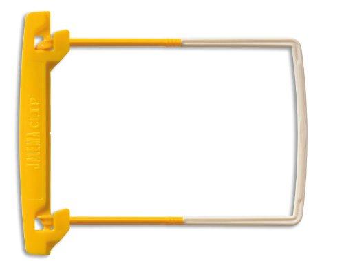 Jalema Clip 5710000 | Archivebinder Für Bündelung Von Dokumenten | Schlauchheftung | Fassungsvermögen 50 mm | 100er Packung | Gelb/Weißer Packung, gelb/weiß