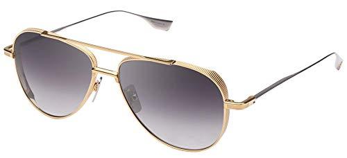 DITA Gafas de Sol SUBSYSTEM Yellow Gold Silver/Dark Grey Shaded 58/15/140 hombre