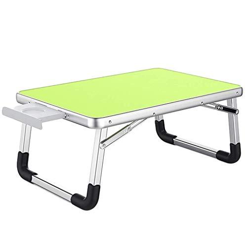 O&YQ Gateleg-Tisch/Klapptisch Klapptisch Schreibtisch-Tisch-Bett Einfacher Multifunktionaler Studentenwohnheim, Grün, Groß