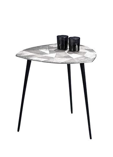 HomeTrends4You Singh 2 salontafel/bijzettafel/tafelset, metaal, zilver, diameter, hoogte 50 cm