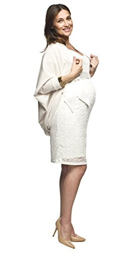 Torelle Maternity Wear Strickpulli, Bolero Damen, Cardigan Modell: ETEL, Farbe: Creme, Gr. L/XXL