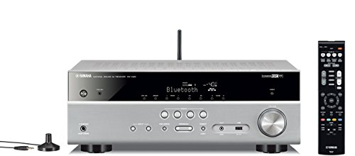 Yamaha RX-V481 5.1 Surround 3D Titanio - Receptor AV (RCA, Surround, AM, FM, 24-bit/192kHz, 6.3 mm), color plateado