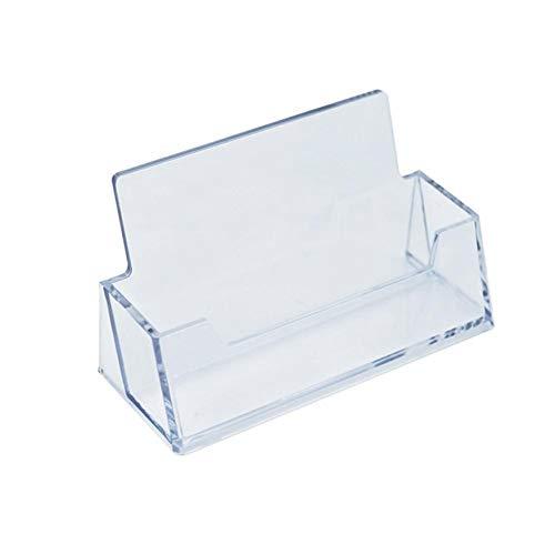 Titulares de tarjetas de visita transparentes de plástico acrílico caja de estante de escritorio transparente soporte de exhibición de escritorio para oficina en casa 100 * 40 * 31 mm